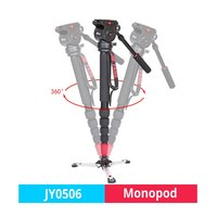 JIEYANG JY 0506/JY0506 Aluminum Professional camera Monopod Video tripod for DSLR camera Sony Nikon Canon with Tripods Head Bag