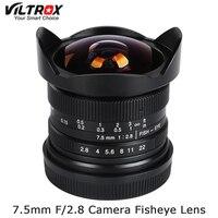 Viltrox 7.5mm F/2.8 Camera Fisheye Lens 180 Degree Multi coated for Sony E Mount A6500 A7 II/M4/3 GH4 GH5 / Fuji X T2 /Canon M10