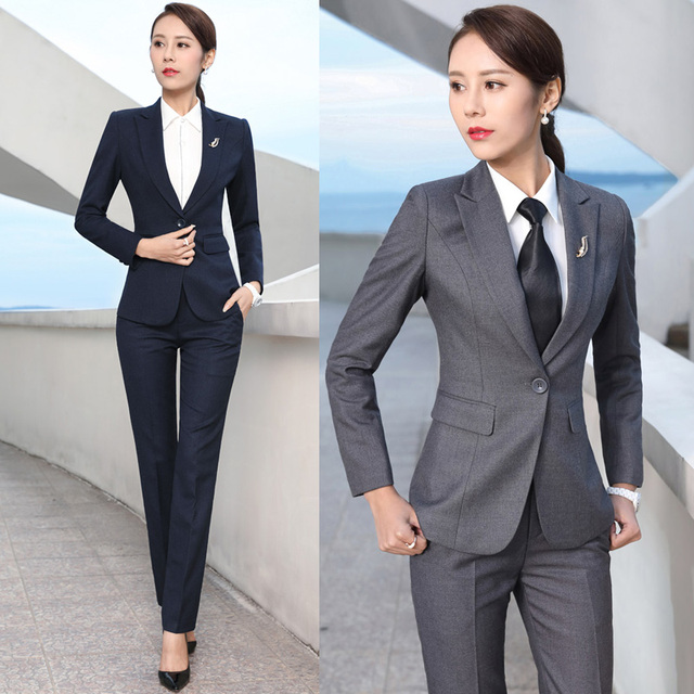 Spring And Autumn Korean Version Of The Business Wear Slim Suit Long - Interview-suit-color