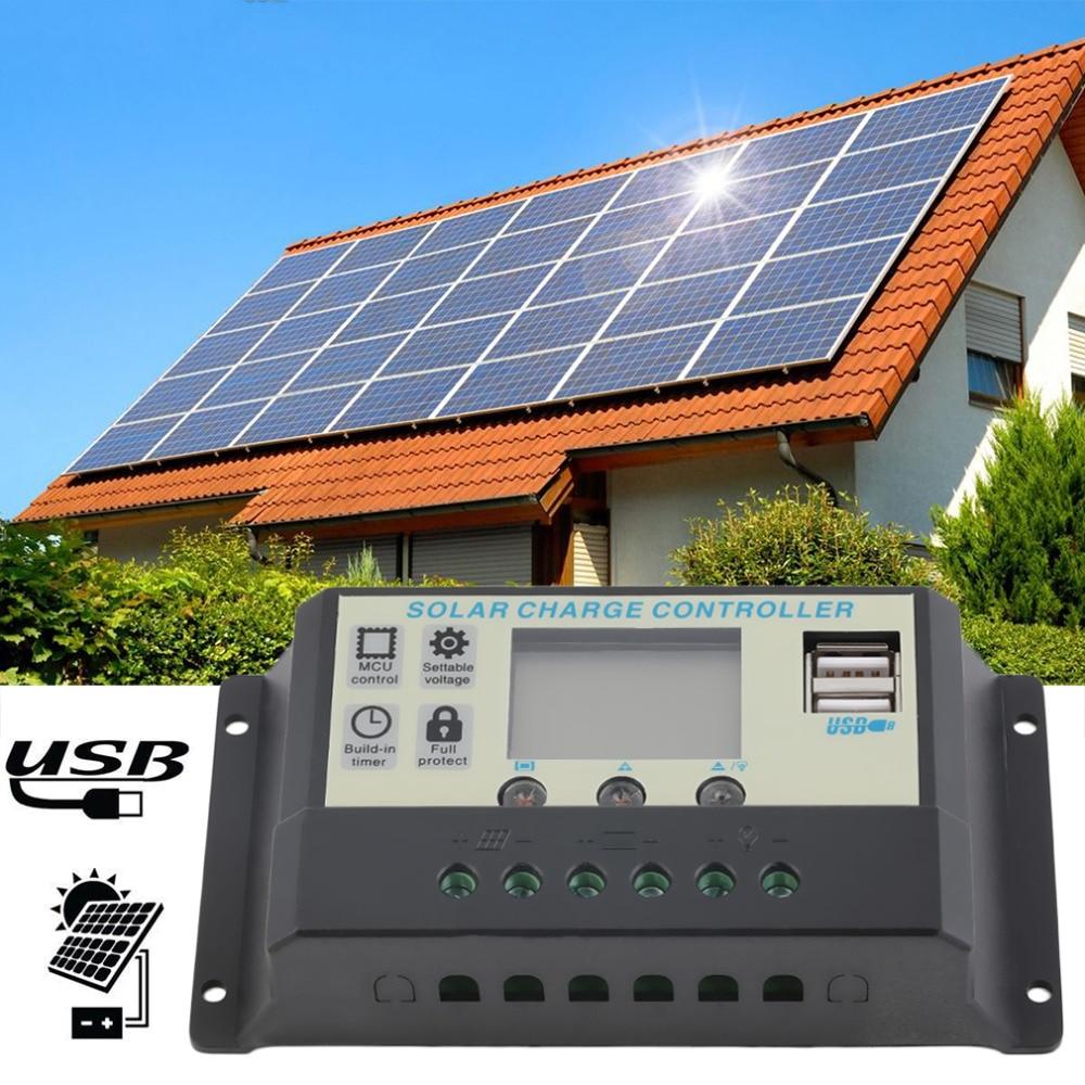 Hot Selling10A 12V 24V Solar Panels Battery Charge Controller 10Amps lamp Regulator