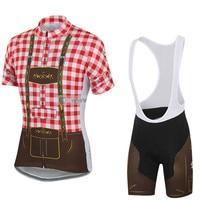 2018 Nova Men ciclismo jersey set MTB road bike team wear bib almofada de gel respirável Maillot ropa ciclismo esportes curto set