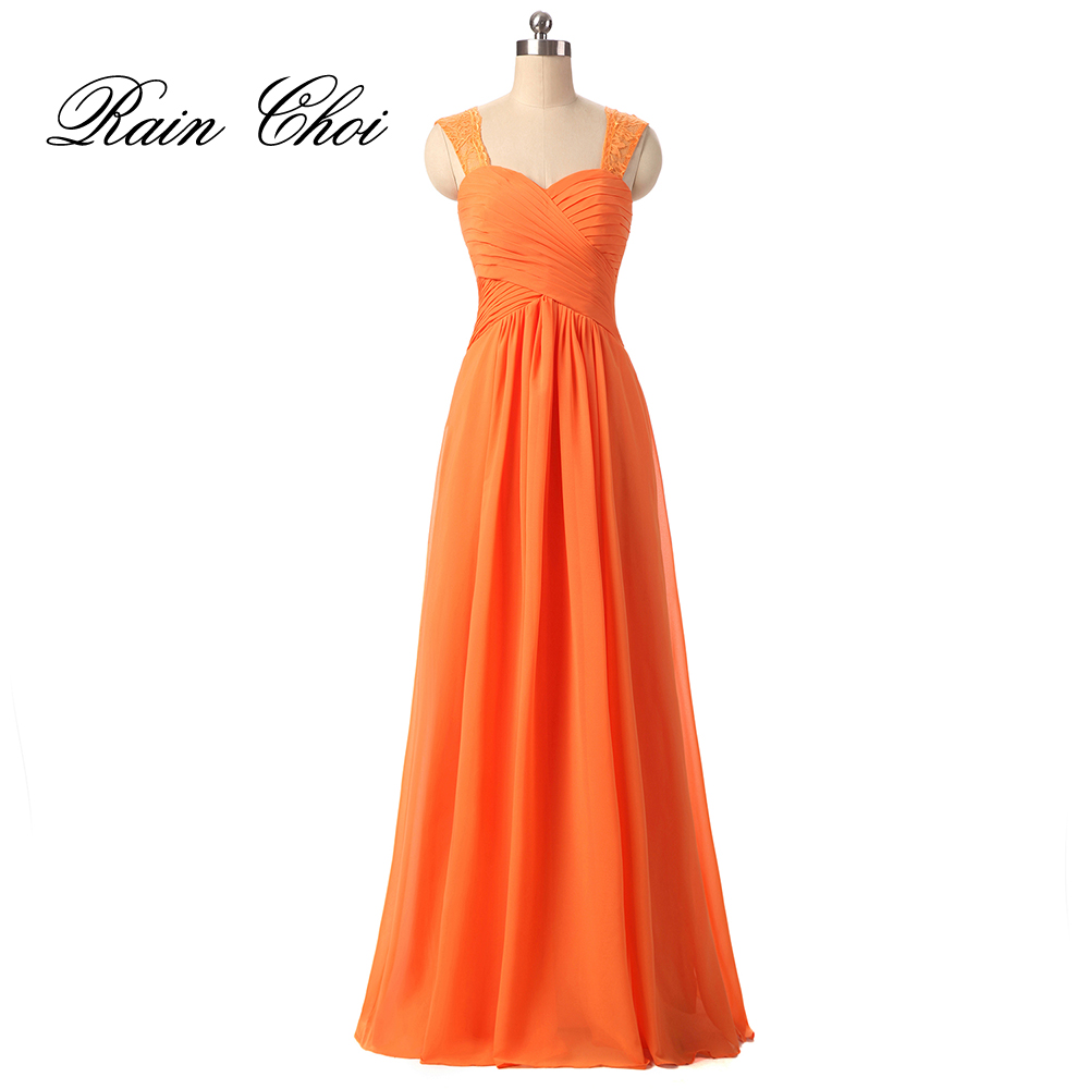 Compare prices on orange bridesmaid gowns online shoppingbuy low formal bridesmaid dresses orange black chiffon wedding party gowns long bridesmaid dresschina ombrellifo Image collections