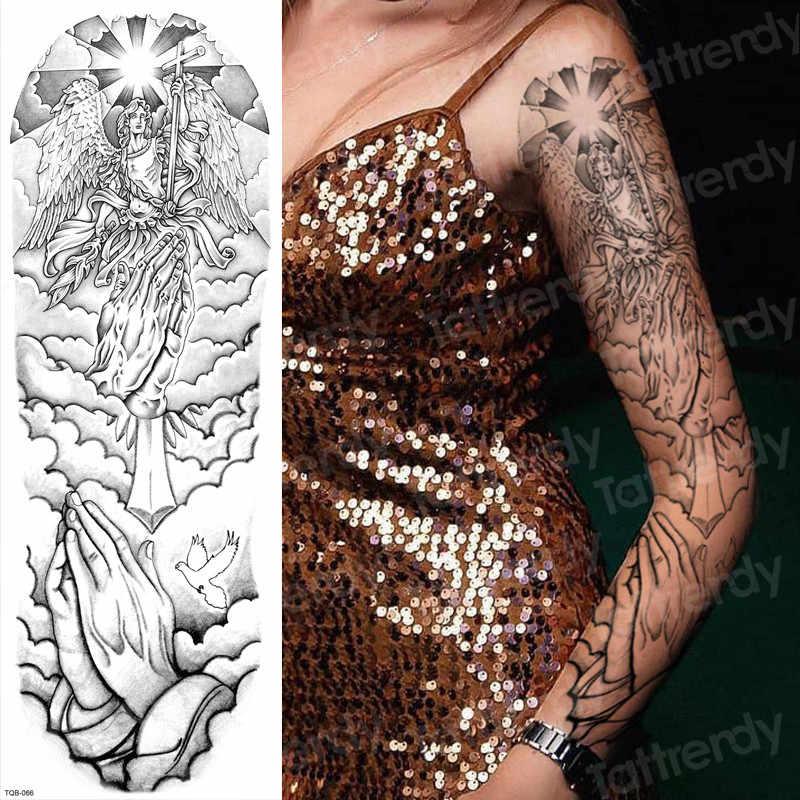 Geçici dövmeler erkekler için robot kol kol dövme mekanik su geçirmez dövme büyük siyah çıkartmalar vücut dövme sahte transferi büyük