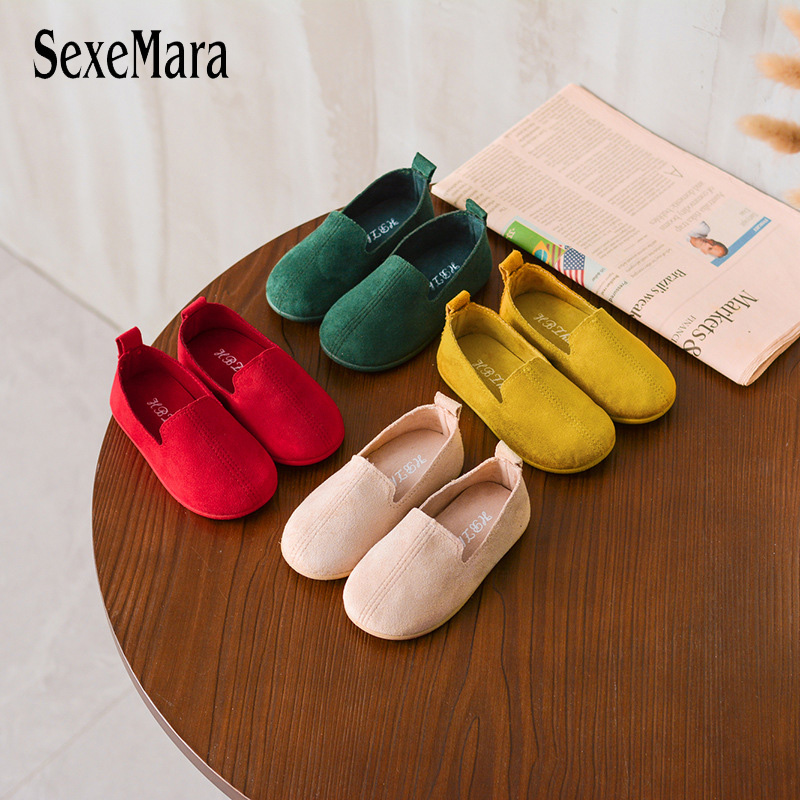 Children Shoes Cotton Flats For Kids Boys Girls Shoes Soft Baby Sneakers Red Beige Breathable Ballet Falts Gilr Sandals C01314
