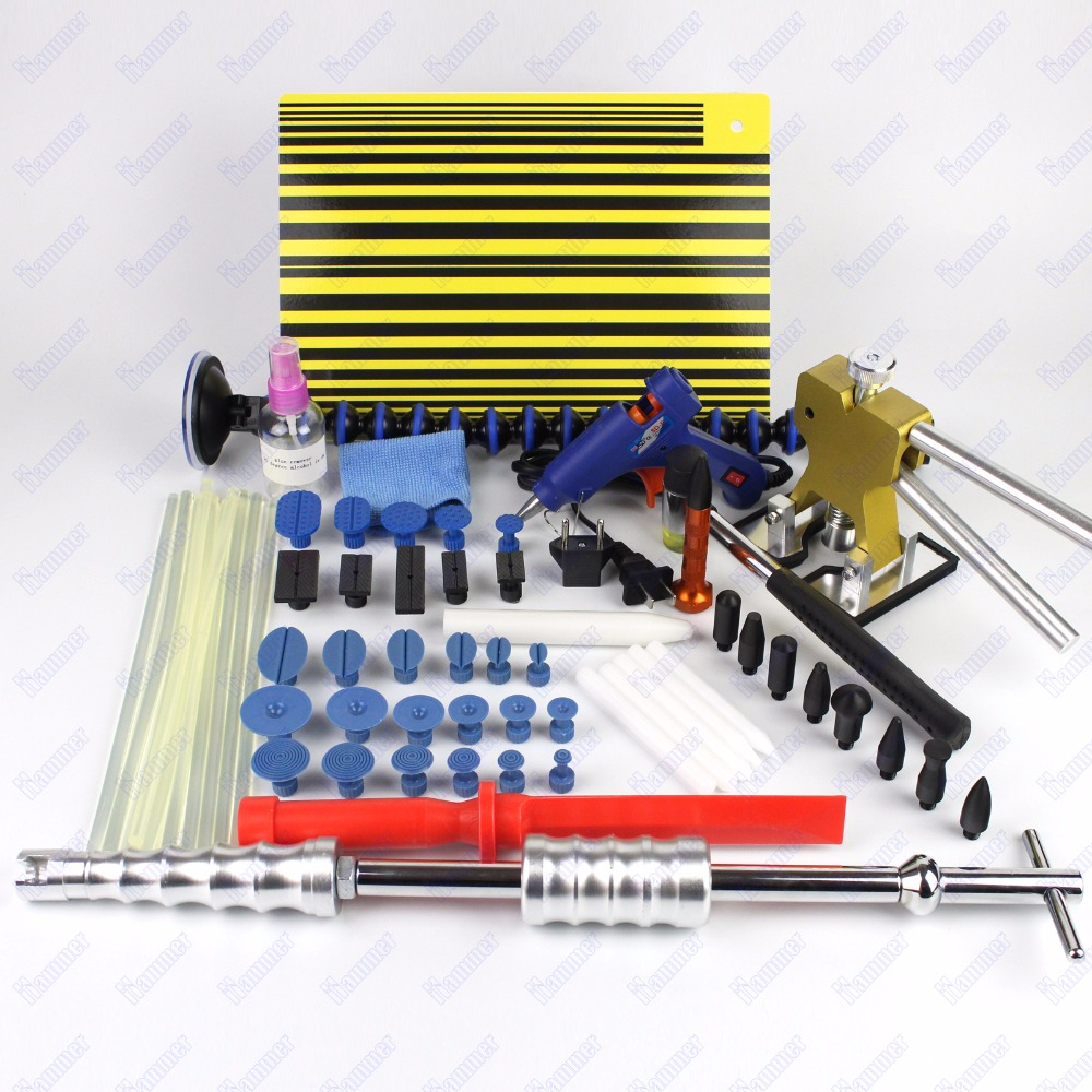 Dent Lifter Kit Glue Puller Paintless Dent Repair Tool slide hammer PDR tools hail dent repair slide hammer kit car dent repair  35pcs pdr tools car dent remover kit dent lifter paintless dent hail glue pdr tool kit pdr pro tabs tap down bridge puller