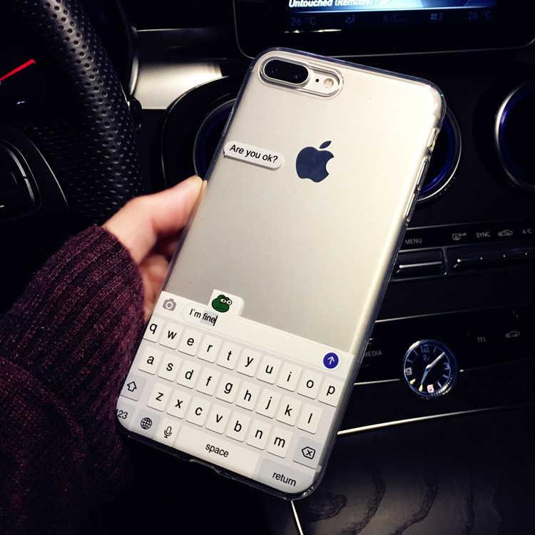Meme divertente sei Ok I Am Fine Cover morbida per telefono trasparente Fundas Coque per iPhone 12 11 Pro Max 6 6S 7 7Plus 8 8Plus X XS Max