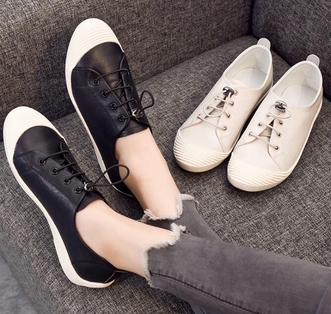 Маленькие белые туфли женский 2018 Весна Повседневная обувь в Корейском стиле XFU1-XFU15