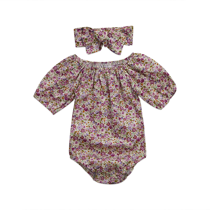 UK Stock Newborn Baby Girls Floral Romper Jumpsuit Outfit Clothes 0-24M