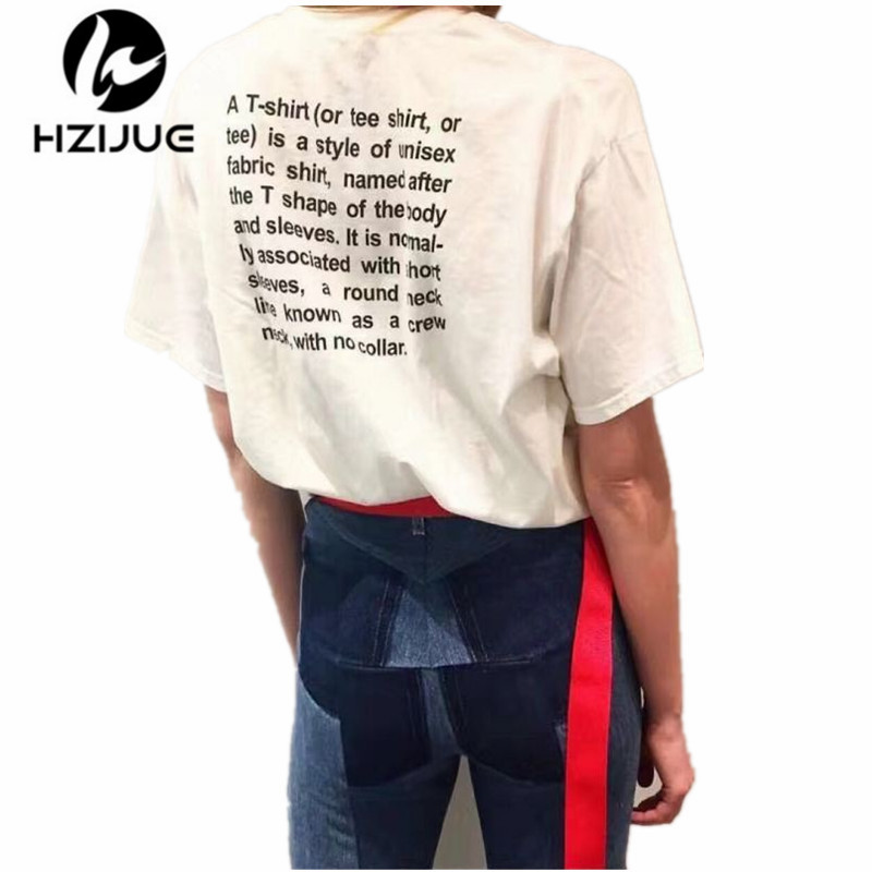 product 2017 Spring Summer Vetements Collaboration Classic Basic T-SHIRT Letter Print Entry Level Short Sleeve Cotton Jersey T-shirt Tee