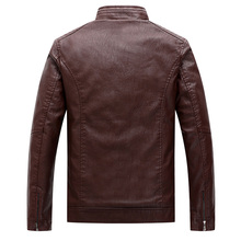 FGKKS Men Fashion Leather Jackets Coats Winter Men's High Quality Faux Leather Jacket Overcoat Male Casual Leather Jackets Coats