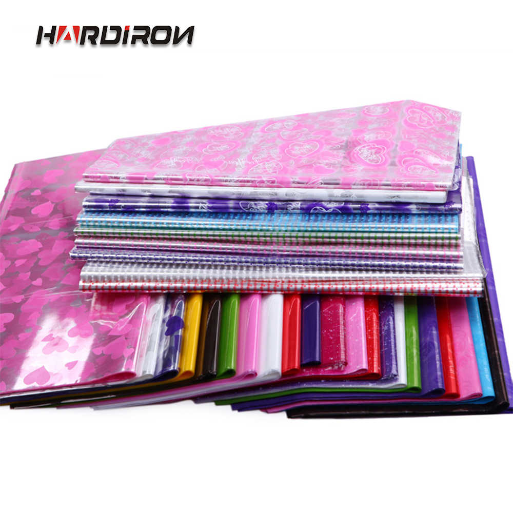 HARDIRON 50PCS Color Printed Cellophane OPP Transparent Plastic Paper Christmas Gifts Fruit Flowers Wrapping Paper