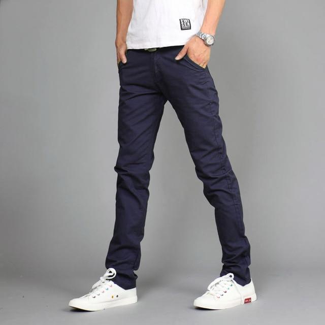 2016 весенняя мода случайные штаны мужчины, вне твердых поезд брюки, середине талии Прямые брюки хлопка mens khaki бегунов размер 28-36