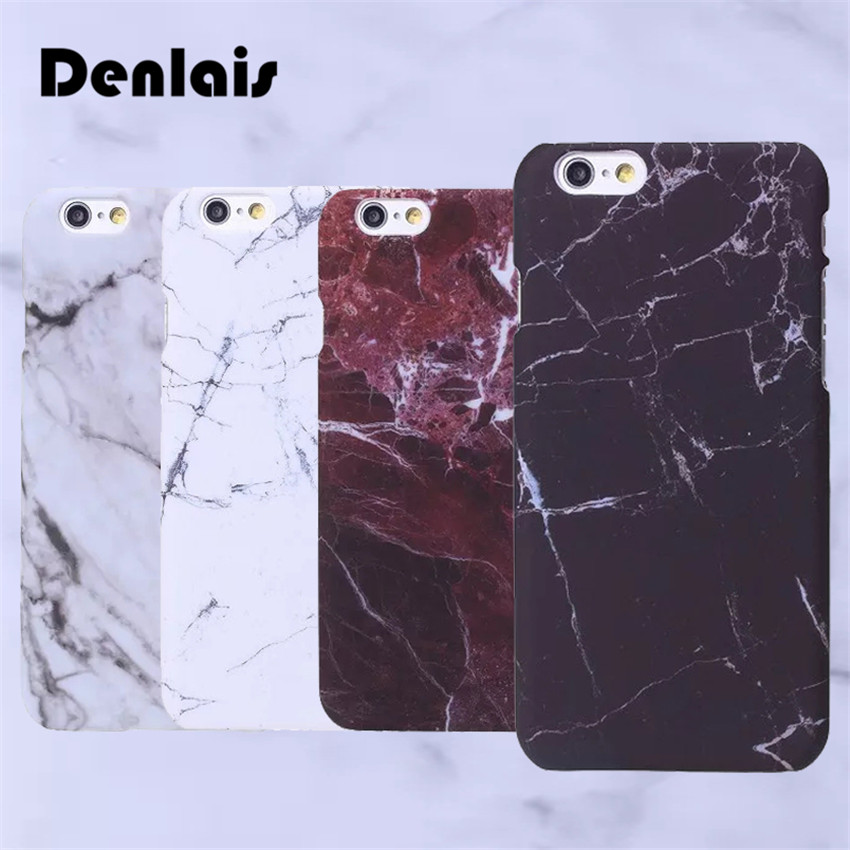 New Fashion Granite Marble Texture Fundas Capa Matte Slim Plastic Phone Cases Cover For iPhone 7 7Plus 5G 5S SE 6G 6S 6Plus 5.5
