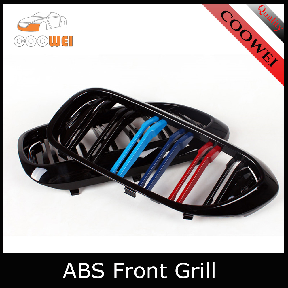 A Pair G30 3 Color Style Kidney ABS Plastic Gloss Black Auto Car styling Front Racing