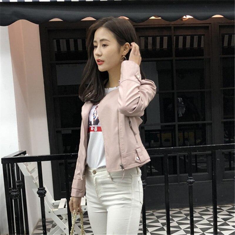 Printemps Veste Haute En Minceur Cuir Surdimensionné Streetwear Bomberjacket Qualité Parka 2018 Femmes Pu Dames BwURqxBdH