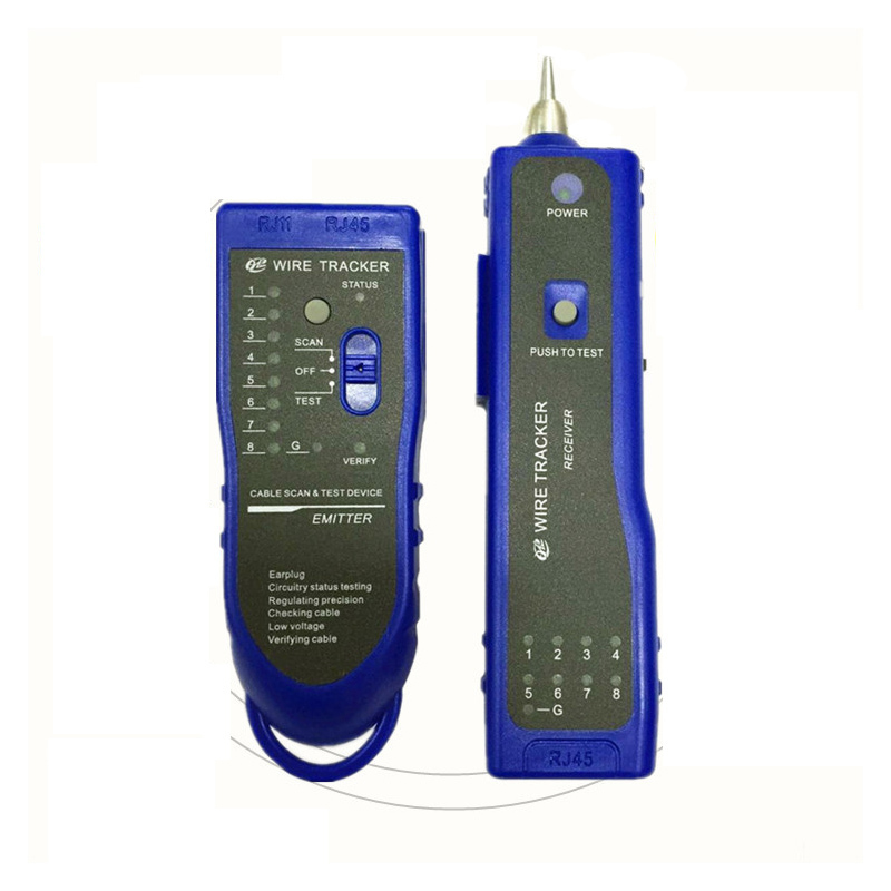 Engineering Communication Network Cable Tester Wire Tracker Telecom RJ45 RJ11 Line Adapter Engineer Patrol Instrument Detector