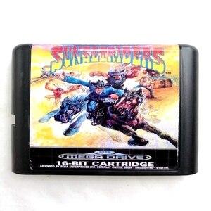 Image 1 - Sunset Riders 16 bit MD Speicher Karte für Sega Mega Drive 2 für SEGA Genesis Megadrive