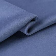 Thick smog blue gray double-sided cashmere wool fabric / woolen tweed tecido telas christmas tulle dress african A112