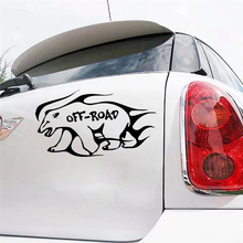 CS-317#11*20cm the white bear offroad funny car sticker and decal silver/black vinyl auto stickers