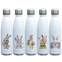 Cute Lovable Rabbit Printing Vacuum Cup Insulated Stainless Steel Bunny Thermos Double Walls Bottle with Rabbit Theme for Kids germany aaron flow cup viscometer stainless steel zahn 4 for printing