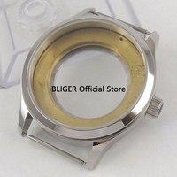 Zafiro cristal pulido 42mm 316L caja de reloj de acero inoxidable apto para ETA 2836 movimiento automático C20