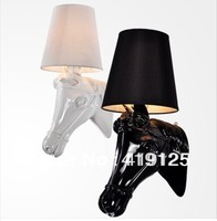 Promotion!Free shipping Hot Selling Modern Horse Head Resin Wall Lamp European Style small size