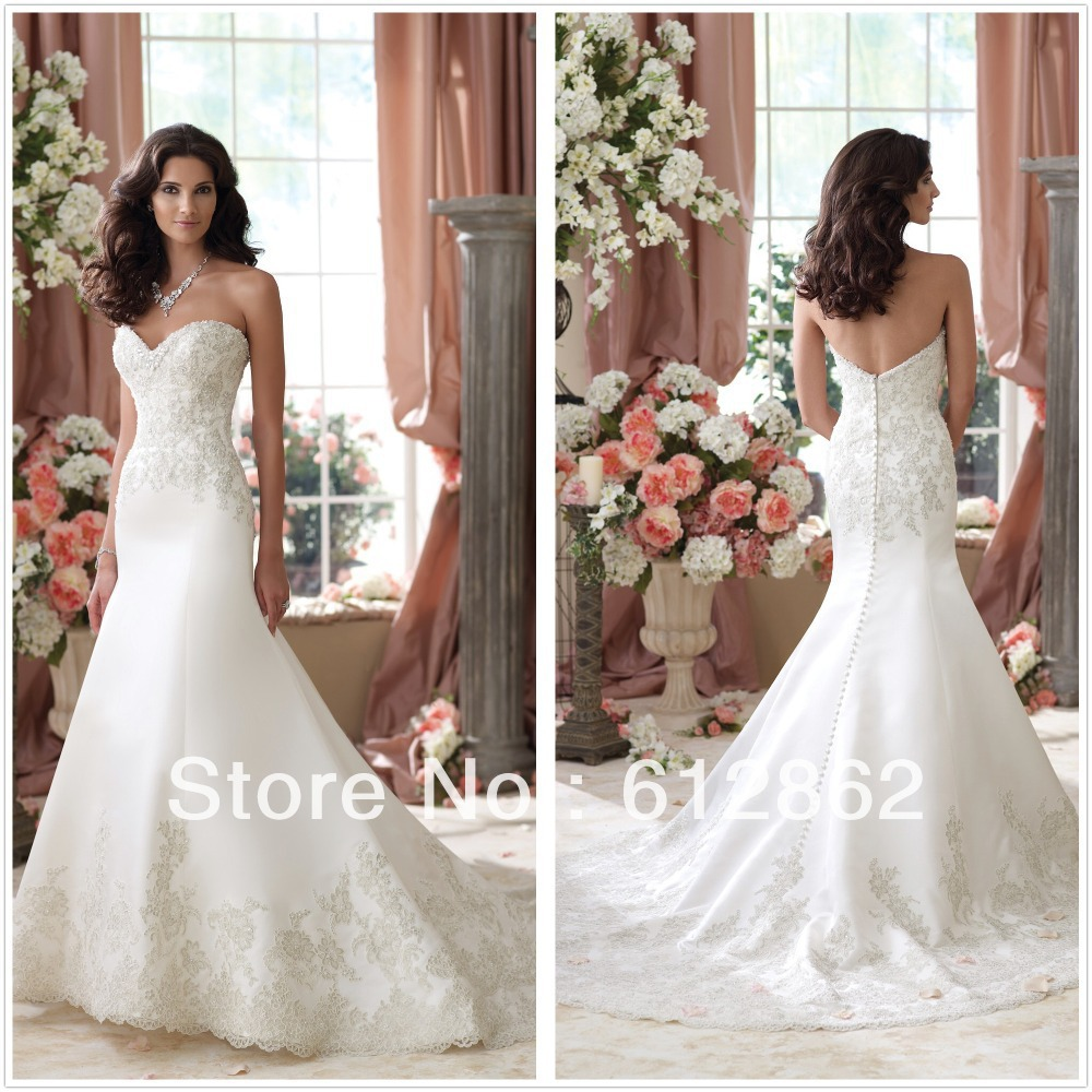 Buy strapless sweetheart neckline long for Strapless wedding dresses with long trains