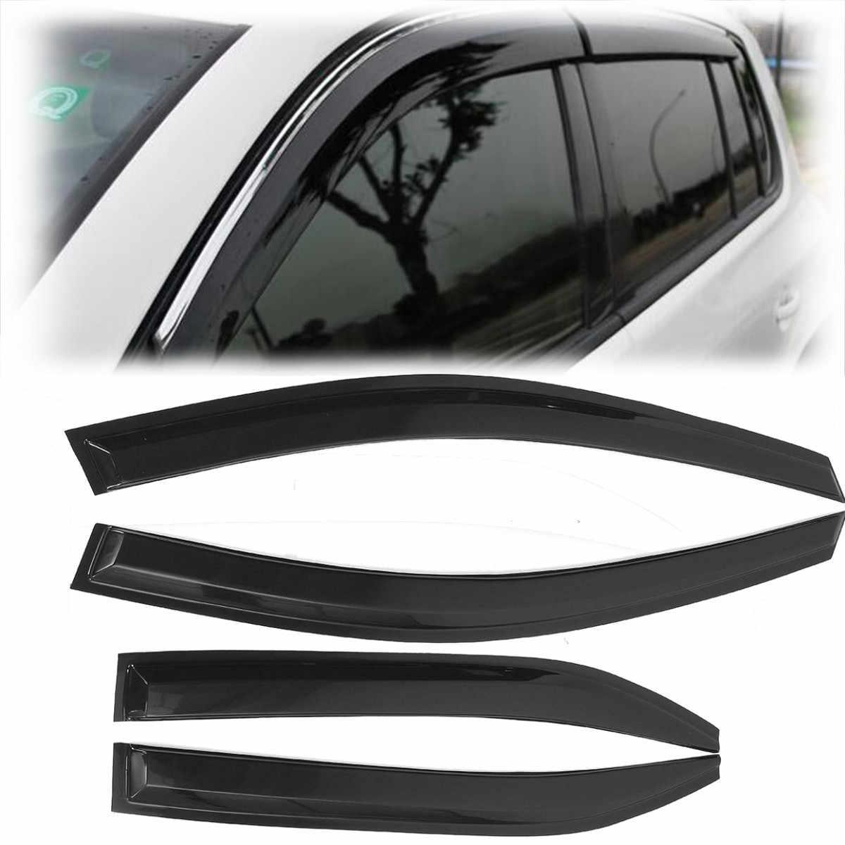 4 個車の窓バイザーシェード雨偏向器のための 2007 2008 2009 2010 2011
