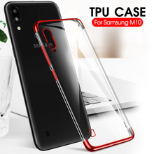 Case Plating Soft TPU Transparent Anti-shock Cover For Samsung Galaxy M10 M20 M30 A10 A30 A50 Elec-Plating