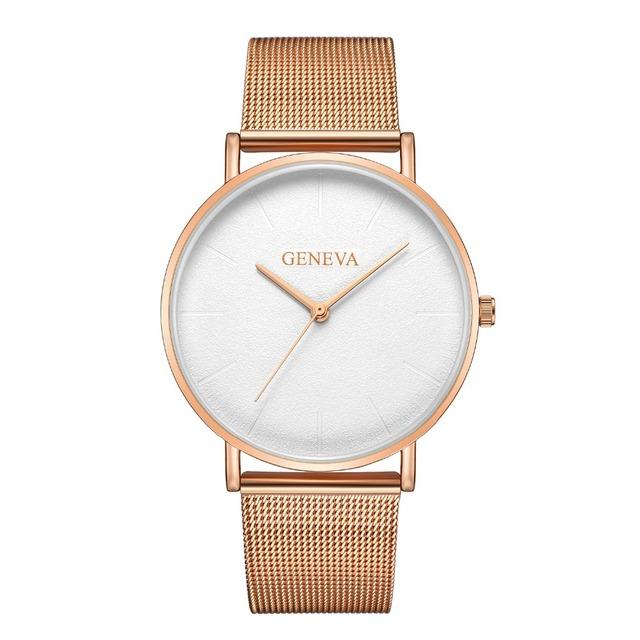 New Ultra-thin Women's Luxury Quartz Watch Mesh Strap