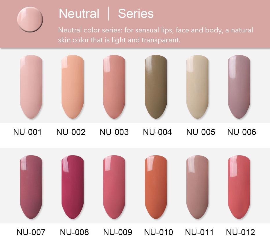 FairyGlo 10ML Nude Color Gel Nail Polish UV LED Soak Off Gel Polish ...