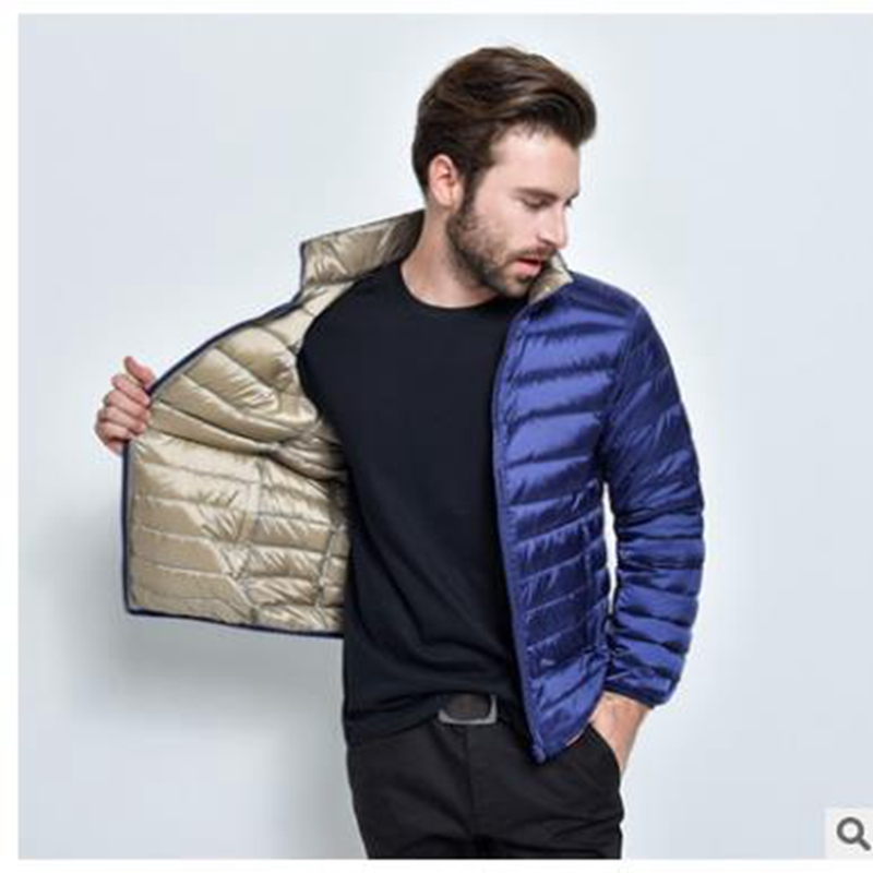 2018 тонкая и легкая Теплая мужская куртка пальто, зимний пуховик пальто, большая мужская хлопковая одежда 9011