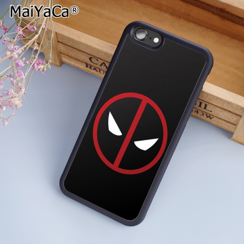 MaiYaCa Marvel Comic Deadpool Logo Luxury Phone Case Cover