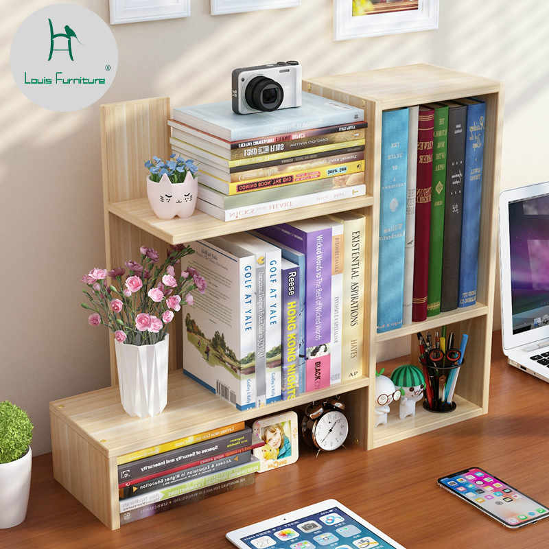 Louis Fashion Bookcases Simple Desk Students Use Desktop Creative Children to Store Modern Simple Dormitories.