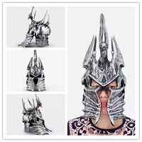 Hot 1:1 World of War craft WOW Lich King Death Knights Helmet Cosplay props toys Anime Figure Collectible Model Toy