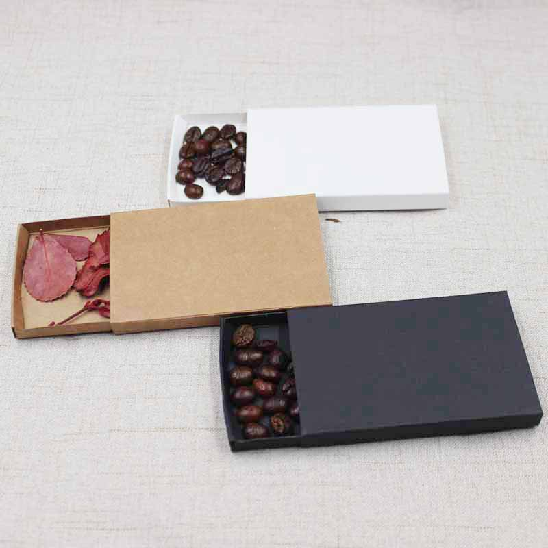 50pcs DIY Blank Kraft/white/black Paper Box Wedding Favors And Gifts Candies Packing Box Party Suppiles Custom Logo Cost Extra