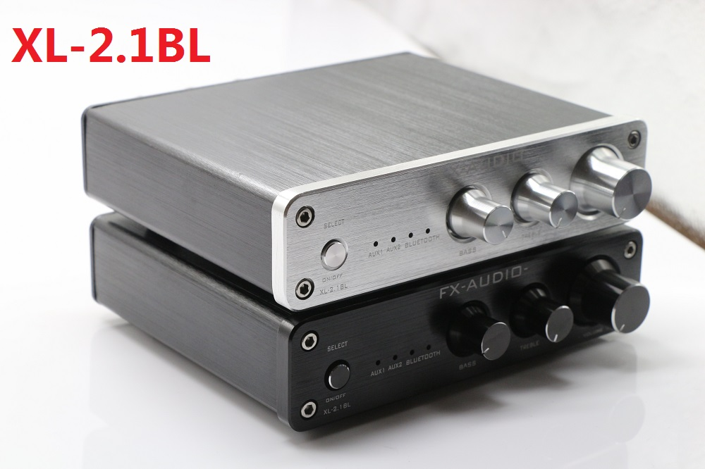 Купить с кэшбэком 2019 FX-Audio XL-2.1BL High Power 2.1 Channel Bluetooth@4.0 Digital Audio Subwoofer Amplifier Input RCA/AUX/BT 50W*2+100W SW Out