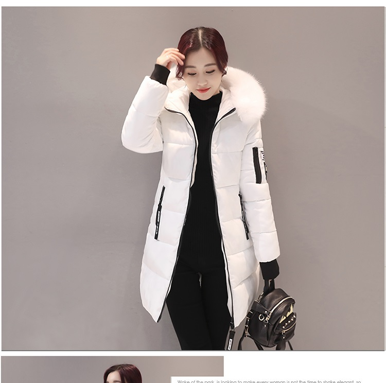 Parka Women Winter Coats Long Cotton Casual Fur Hooded Jackets Women Thick Warm Winter Parkas Female Overcoat Coat 19 MLD1268 4