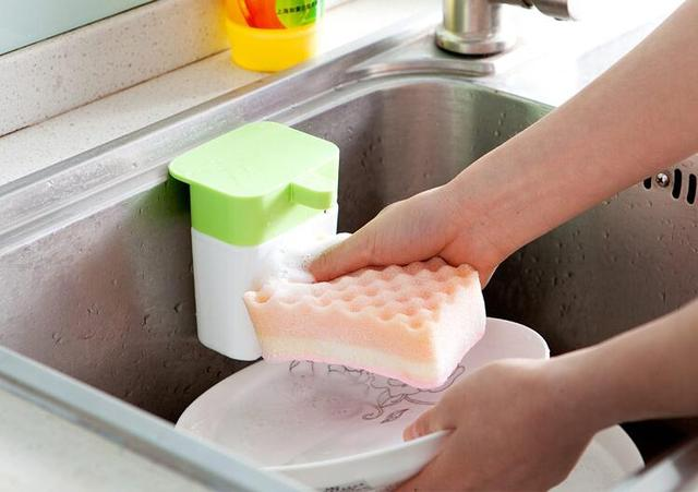 Liquid Soap Dispenser Kitchen Sink Holder Soap Dish Box-in Bottles ...