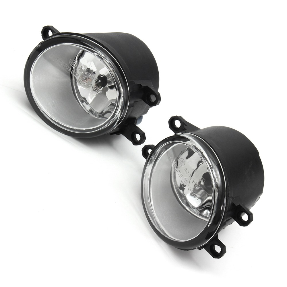 2Pcs Front Bumper Left Right Driving Fog Lights H11 Bulbs+Switch Wiring Harness For Toyota/Camry 2007-2009 2pcs front bumper left right fog light lamp black grille covers switch h11 bulbs for toyota corolla 2008 2010