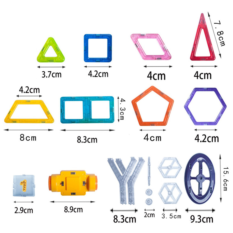 Single Sale Mini Magnetic Construction Model 3D font b Toy b font Learning Educational Magnet Designer