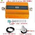 Pantalla LCD + 13dBi Antena Yagi antena de techo + Cable GSM 900 Mhz Teléfono Móvil Amplificador de Señal GSM, Repetidor de Señal de Teléfono celular