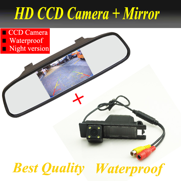 Auto Parking Monitor Reversing camera CCD Car Rear View Camera With Car Rearview Mirror For OPEL Vectra Astra Zafira Insignia