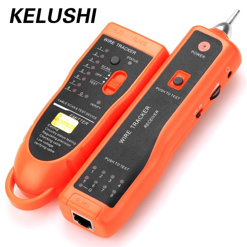 KELUSHI Diagnose Tester XQ-350 for UTP STP Cat5 Cat6 RJ45 LAN Network Cable Line Finder RJ11 Telephone Wire Tracker/ Tracer 2017 new mastech ms6811 handheld network cable tester line tracker utp and stp wiring test meter