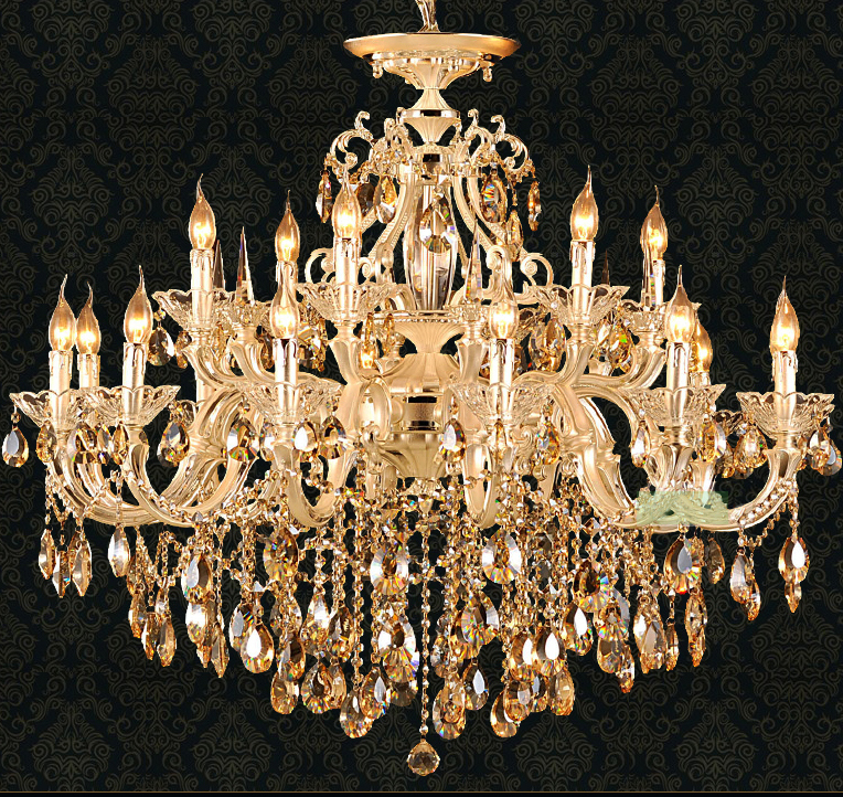 Svitz gold led candle chandelier lighting for living room hotel svitz gold led candle chandelier lighting for living room hotel champagne crystal lamp pendant chandelier lustres de cristal in chandeliers from lights aloadofball Gallery