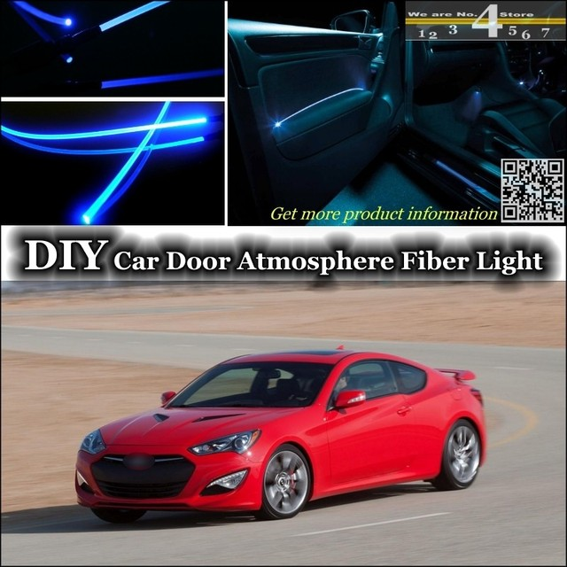 For Hyundai Genesis Coupe Interior Ambient Light Tuning Atmosphere Fiber  Optic Band Lights Inside Door Panel