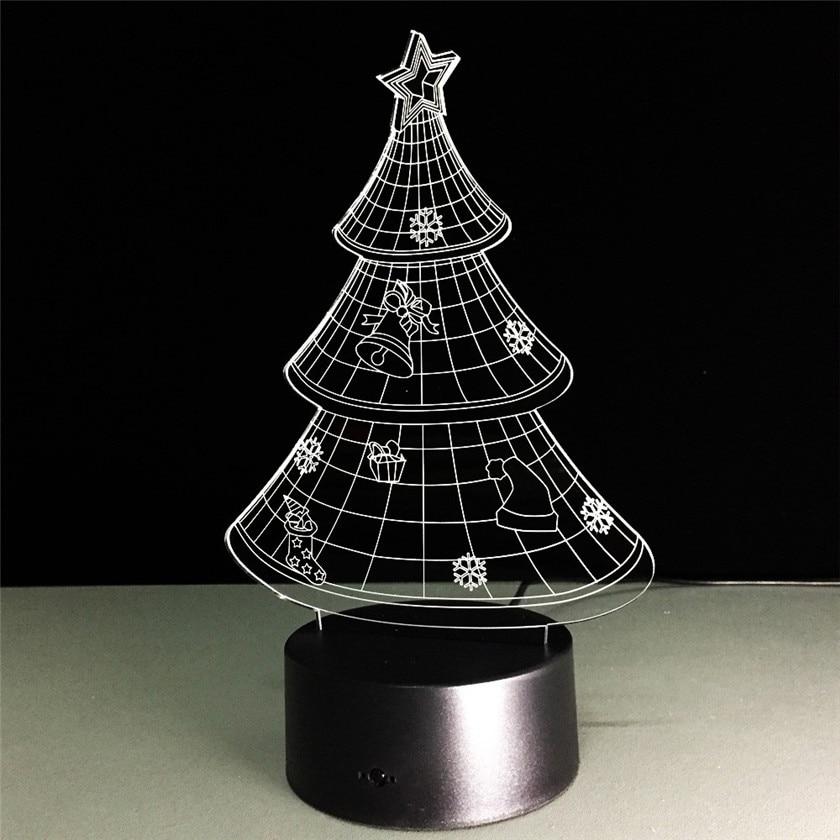 3D Optische Täuschung LED Tisch Nachtlicht mit Fernbedienung USB ...