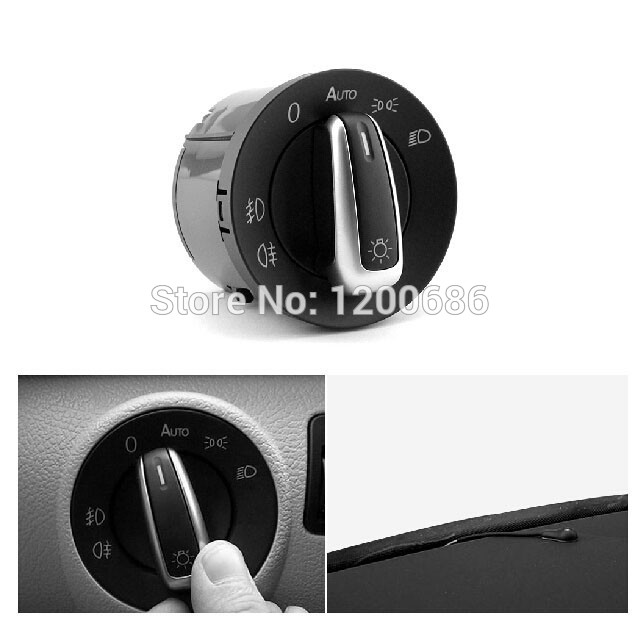 Commutateur de lumière de tête de capteur de phare automatique de commutateur de Chrome d'oem pour VW Golf MK6 Jetta MK5 Tiguan 5ND 941 431B