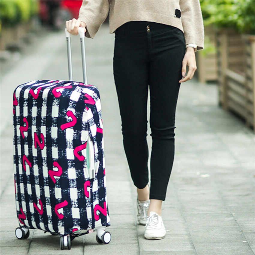 Seyahat bagaj bavul koruyucu kapak tekerlekli çanta seyahat bagaj tozluk seyahat aksesuarları için geçerlidir (sadece kapak)