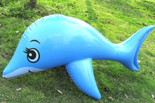 Oversized Inflatable Dolphins Childrens Toys Cute Lovely Dolphin Shape Toy Whales Paddle Ocean Animals PVC New Baby Gifts